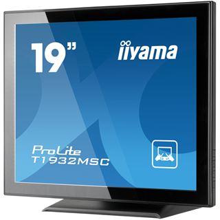 """19"""" (48,26cm) iiyama ProLite T1932MSC-B1 NS Touch schwarz (Klavierlack) 1280x1024 1xVGA/1xDVI"""