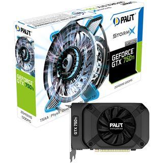 2048MB Palit GeForce GTX 750 Ti StormX OC Aktiv PCIe 3.0 x16 (Retail)