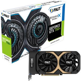 2GB Palit GeForce GTX 750 Ti StormX OC Dual Aktiv PCIe 3.0 x16 (Retail)