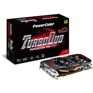 4096MB PowerColor Radeon R9 290 TurboDuo Aktiv PCIe 3.0 x16 (Retail)