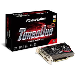 2048MB PowerColor Radeon R7 265 TurboDuo OC Aktiv PCIe 3.0 x16 (Retail)