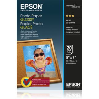 Epson Photo Papier GLOSSY (20) 13x18cm (20 BLATT), Kapazität: 20 Bl.