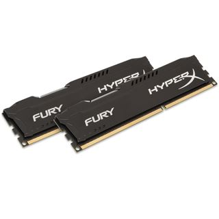 8GB HyperX FURY schwarz DDR3-1600 DIMM CL10 Dual Kit