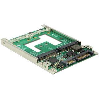 Delock 2,5 Zoll Konverter für 1x 22 Pin SATA Stecker zu 2x mSATA (62545)