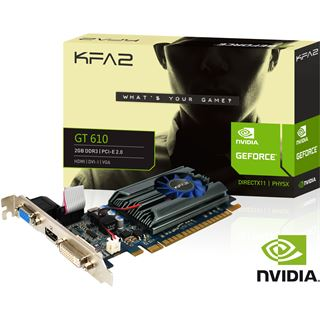 2GB KFA2 GeForce GT 610 Passiv Passiv PCIe 2.0 x16 (Retail)