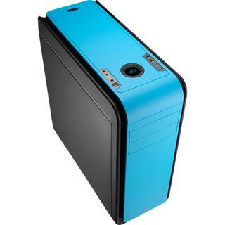 AeroCool DS 200 Blue Edition gedämmt Midi Tower ohne Netzteil blau