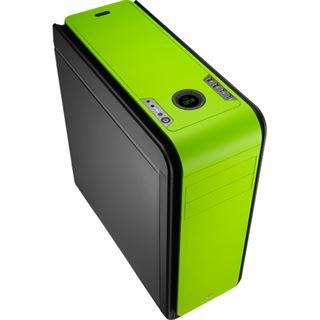 AeroCool DS 200 Green Edition gedämmt Midi Tower ohne Netzteil gruen
