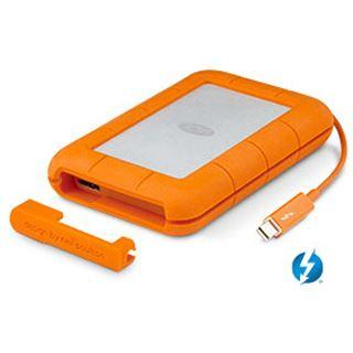 """250GB LaCie Rugged 9000490 2.5"""" (6.4cm) Thunderbolt/USB 3.0 orange/silber"""