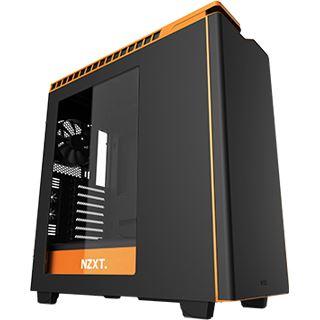 NZXT H440 gedämmt mit Sichtfenster Midi Tower ohne Netzteil schwarz/orange