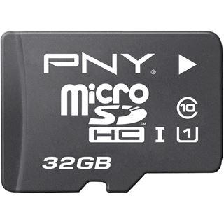 32 GB PNY Elite Performance microSDHC UHS-I Retail inkl. Adapter auf SD