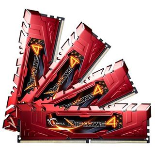 32GB G.Skill RipJaws 4 rot DDR4-2400 DIMM CL15 Quad Kit