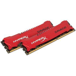 8GB HyperX Savage rot DDR3-1600 DIMM CL9 Dual Kit