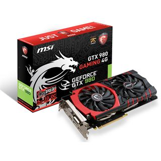 4096MB MSI GeForce GTX 980 Gaming 4G Aktiv PCIe 3.0 x16 (Retail)