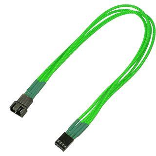 Nanoxia 30 cm einzeln gesleeved neon grünes Verlängerungskabel für 4-Pin PWM (NXPWV3ENG)