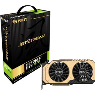 4096MB Palit GeForce GTX 970 JetStream Aktiv PCIe 3.0 x16 (Retail)
