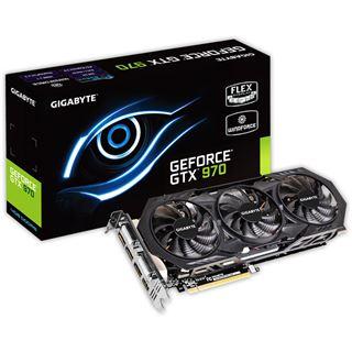4096MB Gigabyte GeForce GTX 970 Windforce 3X OC Aktiv PCIe 3.0 x16 (Retail)