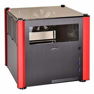Lian Li PC-V359WRX mit Sichtfenster Mini Tower ohne Netzteil schwarz/rot