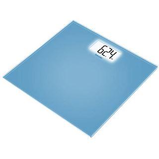 Beurer Glaswaage gr.LCD-Anzeige GS 208 blau