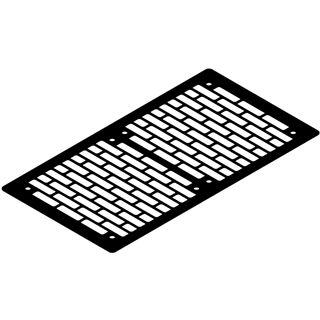 Watercool schwarze 280mm Lüfterblende für Gehäuse (21161)