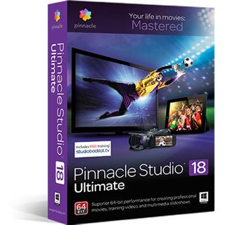 Corel Pinnacle Studio 18 Ultimate 32/64 Bit Multilingual Videosoftware Vollversion PC (CD/DVD)