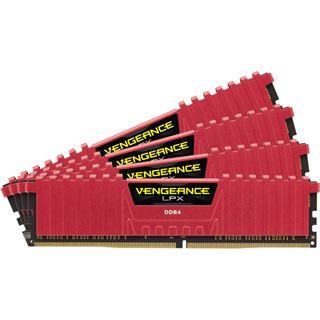 16GB Corsair Vengeance LPX rot DDR4-2400 DIMM CL14 Quad Kit