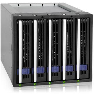 "Icy Dock 3x 5,25"" Wechselrahmen für 5x 3,5"" Festplatten (MB155SP-B)"