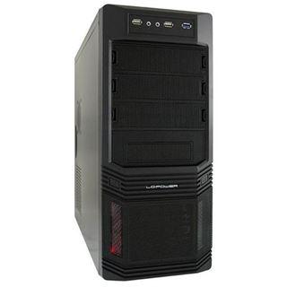 LC-Power Pro-925B Midi Tower ohne Netzteil schwarz