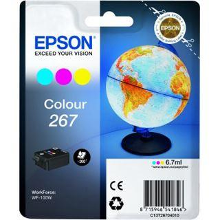 Epson Workforce Tinte WF-100 3 Farbig C/M/Y 267, Kapazität: 200