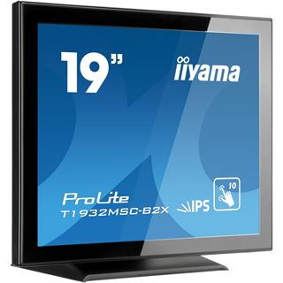 "19"" (48,26cm) iiyama ProLite T1932MSC-B2X Touch schwarz 1280x1024 1xDVI/1xVGA"
