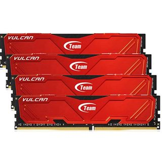 16GB TeamGroup Vulcan Series rot DDR4-3000 DIMM CL16 Quad Kit