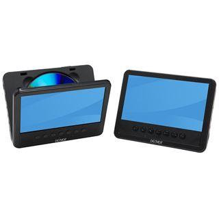 "Denver MTW-756TWIN-NB portabler DVD-Player mit 2 7"" (17,78cm) Displays"