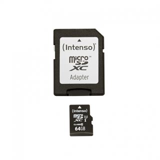 64 GB Intenso microSDHC Class 10 Retail inkl. Adapter auf SD