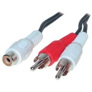 (€19,50*/1m) 0.20m Good Connections Audio Anschlusskabel Cinch Buchse auf 2xCinch Stecker Schwarz