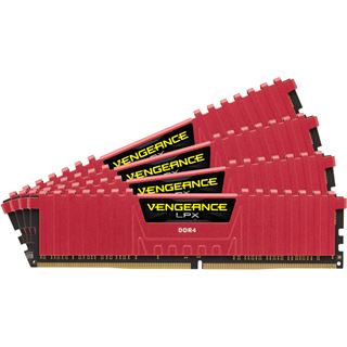 32GB Corsair Vengeance LPX rot DDR4-2666 DIMM CL16 Quad Kit