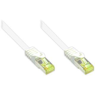 (€0,77*/1m) 40.00m Good Connections Cat. 7 Patchkabel S/FTP PiMF RJ45 Stecker auf RJ45 Stecker Weiß halogenfrei/vergoldet