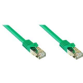 (€0,77*/1m) 40.00m Good Connections Cat. 7 Patchkabel S/FTP PiMF RJ45 Stecker auf RJ45 Stecker Grün halogenfrei