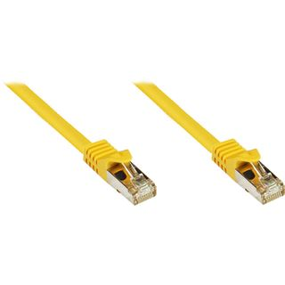 (€1,12*/1m) 40.00m Good Connections Cat. 7 Patchkabel S/FTP PiMF RJ45 Stecker auf RJ45 Stecker Gelb halogenfrei