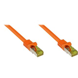 (€1,12*/1m) 25.00m Good Connections Cat. 7 Patchkabel S/FTP PiMF RJ45 Stecker auf RJ45 Stecker Orange halogenfrei/vergoldet