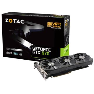 4096MB ZOTAC GeForce GTX 970 AMP! Extreme Core Edition Aktiv PCIe 3.0 x16 (Retail)