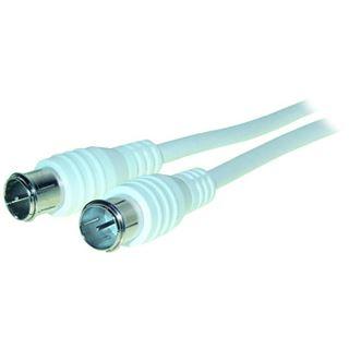 (€3,27*/1m) 1.50m Good Connections Antenne Antennenkabel F-Quick-Stecker auf F-Quick-Stecker Weiß geschirmt