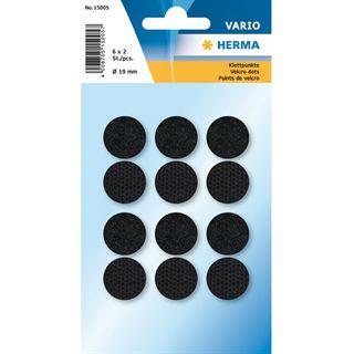 Herma Klettpunkte schwarz 19 mm