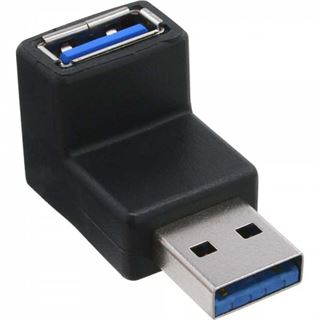 InLine USB 3.0 Adapter, Stecker A auf Buchse A, gewinkelt 90°