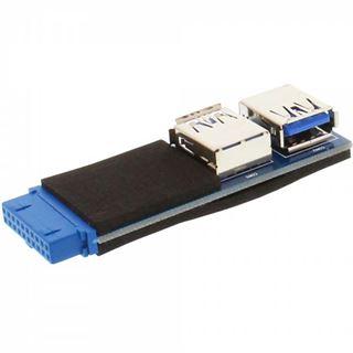 InLine USB 3.0 Adapter, 2x Buchse A auf Pfostenanschluss
