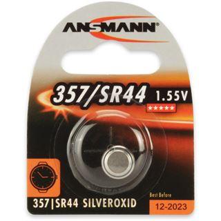 Ansmann Silberoxid-Knopfzelle, 1,55V, 357/SR44 (1516-0011), 1er-Blister