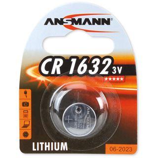 Ansmann Knopfzelle 3V Lithium CR 1632 (1516-0004), 1er Blister