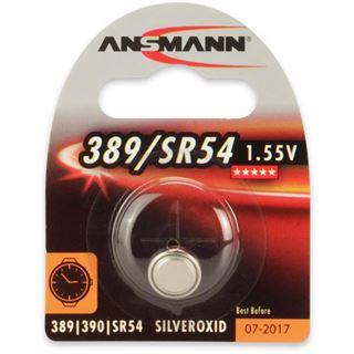Ansmann Silberoxid-Knopfzelle, 1,55V, 389/SR54 (1516-0015), 1er-Blister