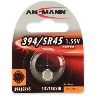 Ansmann Silberoxid-Knopfzelle, 1,55V, 394/SR45 (1516-0016), 1er-Blister