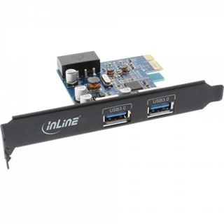 InLine 76662B 2 Port PCIe 2.0 x1 inkl. Low Profile Slotblech / Low Profile retail