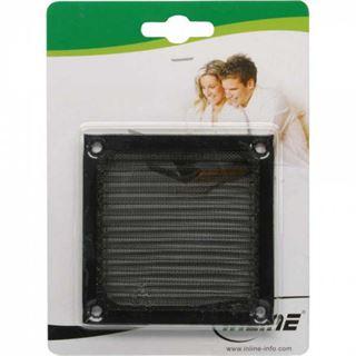 InLine Lüftergitter, Aluminium Filter, 92x92mm, schwarz