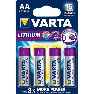 Varta Professional Lithium Batterie AA Mignon LR6 4er